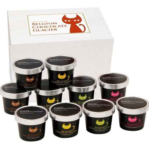 送料無料 産直 イーペルの猫祭り ベルギーチョコレートグラシエ(アイス職人) AH-BCGR