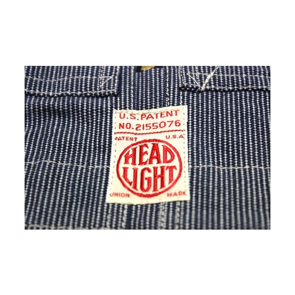 ヘッドライト HEADLIGHT ピンストライプ・オーバーオール【HD41746】421番色(ワンウォッシュ)|furutaka|04
