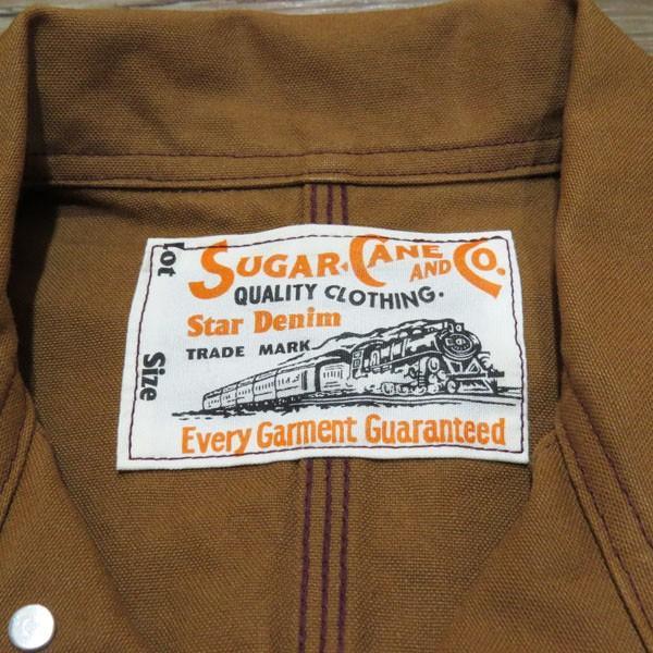 シュガーケーン Sugar Cane 13オンス・ブラウンダック・ワークコート【SC14374】138番色(ワンウォッシュ・ブラウン)|furutaka|03