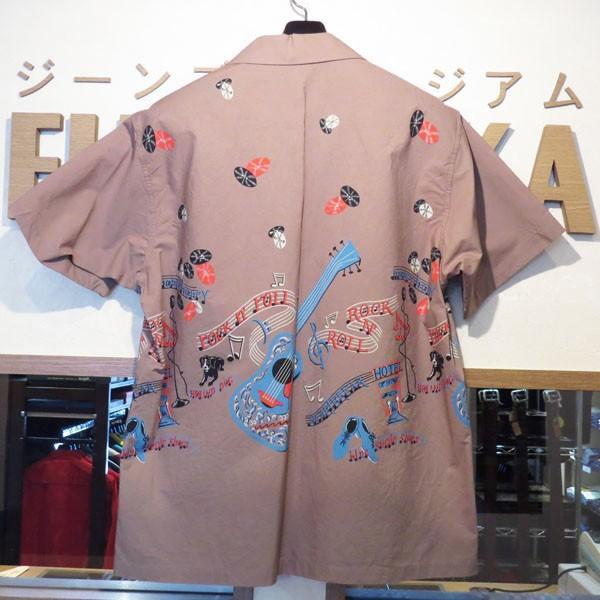 スターオブハリウッド Star☆OF HOLLYWOOD ROCK'NROLL GUITAR 半袖オープンシャツ【SH38117】115番色(グレー) furutaka 02