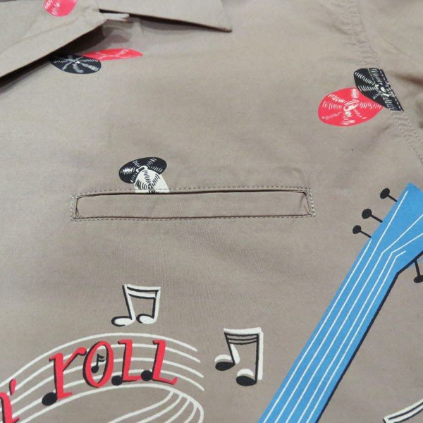 スターオブハリウッド Star☆OF HOLLYWOOD ROCK'NROLL GUITAR 半袖オープンシャツ【SH38117】115番色(グレー) furutaka 05