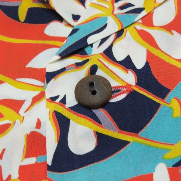 サンサーフ アロハシャツ Sun Surf KAHILI GINGER  レーヨン半袖ハワイアンシャツ【SS38026】159番色(オレンジ)|furutaka|04