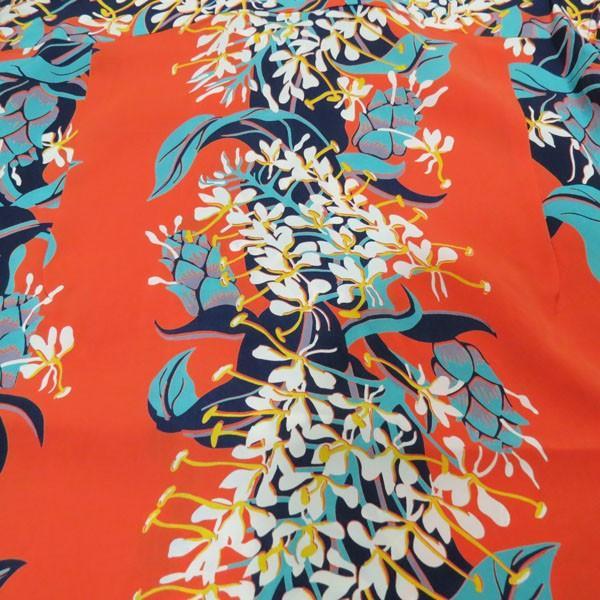 サンサーフ アロハシャツ Sun Surf KAHILI GINGER  レーヨン半袖ハワイアンシャツ【SS38026】159番色(オレンジ)|furutaka|05