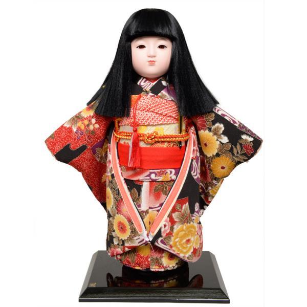 市松人形 12号市松人形:綸子衣裳(オカッパ):京華作