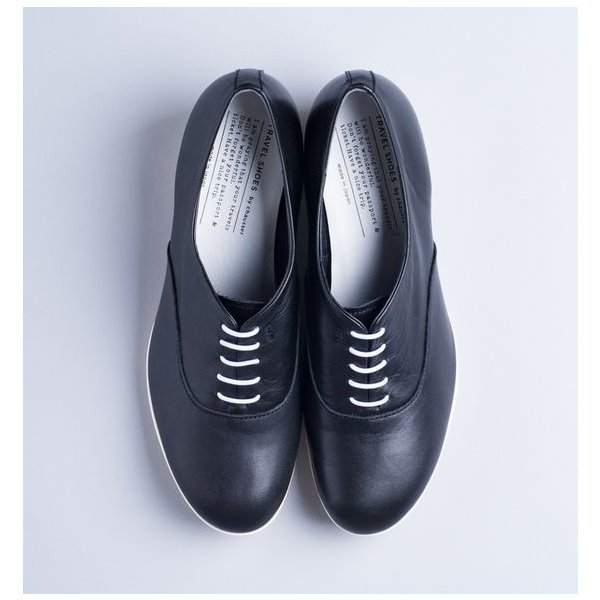 TRAVEL SHOES by chausser レザー・レースアップヒールシューズ  TR007