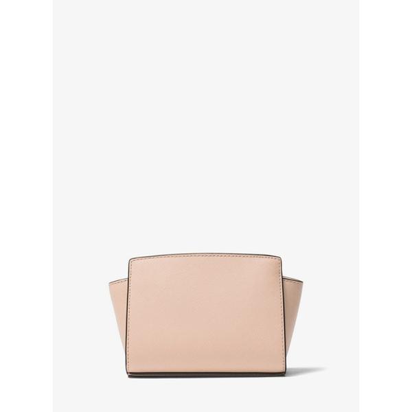 マイケルコース Michael Kors ミニ ショルダーバッグ ポシェット ロゴ レザー バッグ  Selma ベージュ ホワイトピンク レディース 取り寄せ