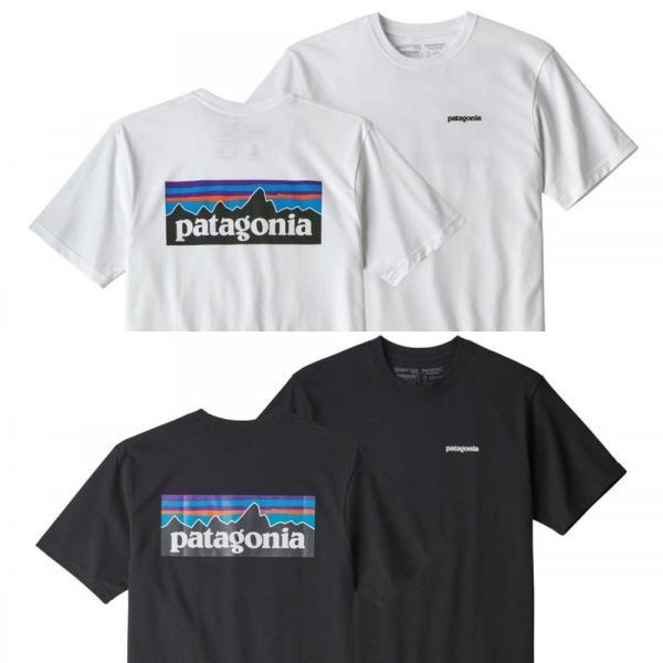パタゴニア * Patagonia Tシャツ P-6ロゴ レスポンシビリティー Tシャツ メンズ ホワイト ブラック 2色|fusionusa