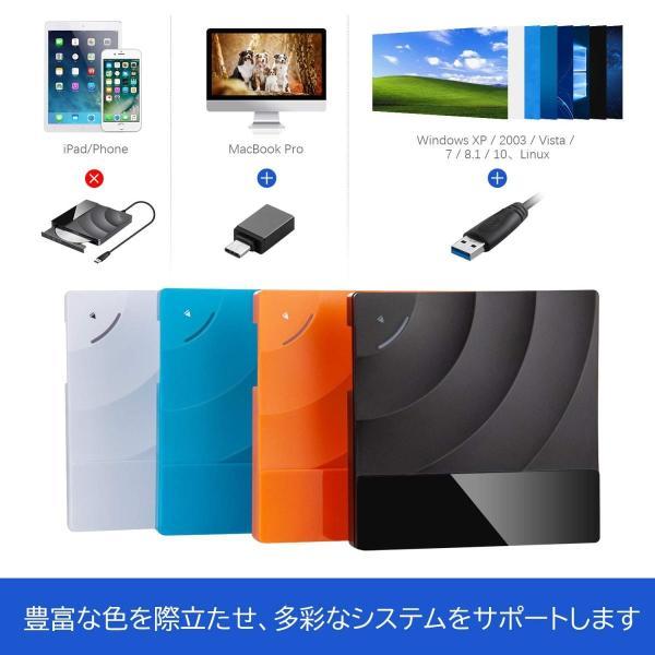 VENTCY USB 3.0 外付け DVD ドライブ タッチポップ式 DVDプレイヤー ポータブルドライブ CD/DVD 読取・書込 高速 静音 超スリム DVD±RW CD-RW USB3.0 / 2.0 Win futaba88 05