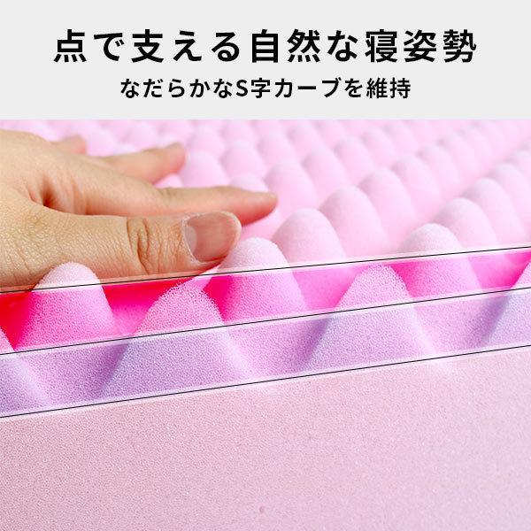 西川 健康敷きふとん ダブル 90mm 日本製 凹凸プロファイルウレタン 体圧分散 敷き布団 専用カバー付き|futon|06