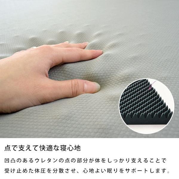 マットレス 敷布団 敷き布団 西川 シングル RAKURA ラクラ 体圧分散 敷きふとん 1枚もの丸巻き|futon|02