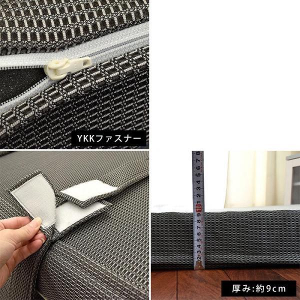 マットレス 敷布団 敷き布団 西川 シングル RAKURA ラクラ 体圧分散 敷きふとん 1枚もの丸巻き|futon|05