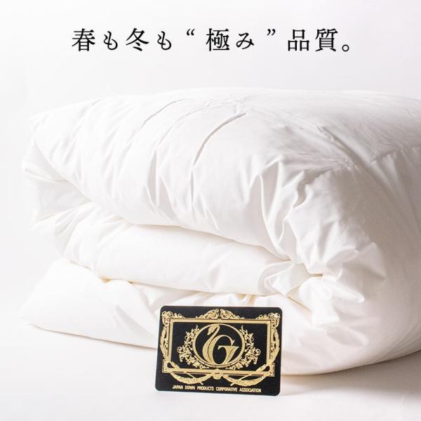 羽毛肌掛け布団 シングル ポーランド産マザーグース95% 日本製 ダウンケット プレミアムゴールドラベル 夏の羽毛布団 futon 02