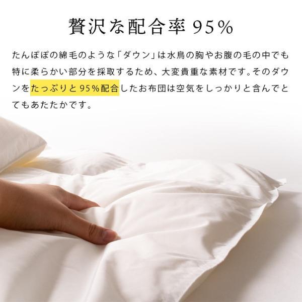 羽毛肌掛け布団 シングル ポーランド産マザーグース95% 日本製 ダウンケット プレミアムゴールドラベル 夏の羽毛布団 futon 06