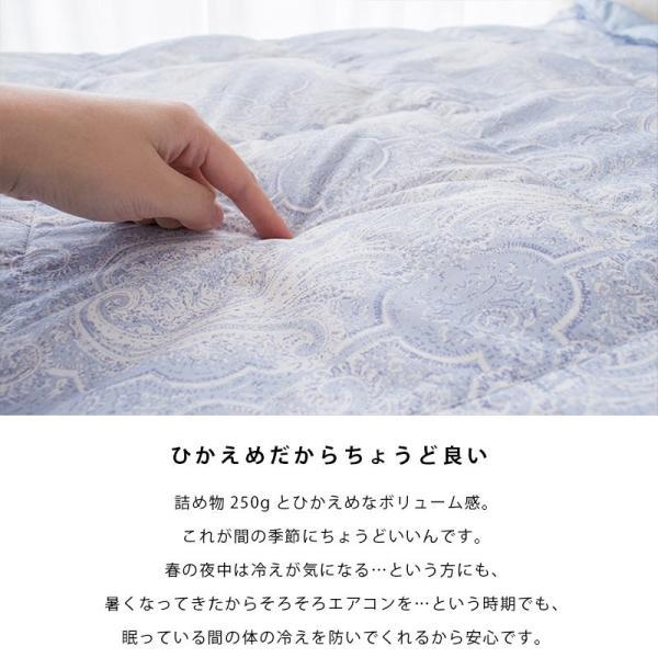羽毛肌掛け布団 シングル 昭和西川 ダウン50% 夏 ダウンケット 洗える羽毛肌布団|futon|02