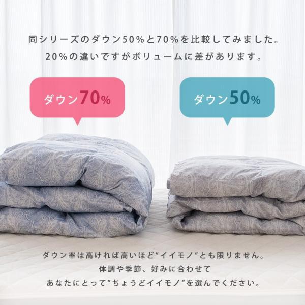 羽毛肌掛け布団 シングル 昭和西川 ダウン50% 夏 ダウンケット 洗える羽毛肌布団|futon|03