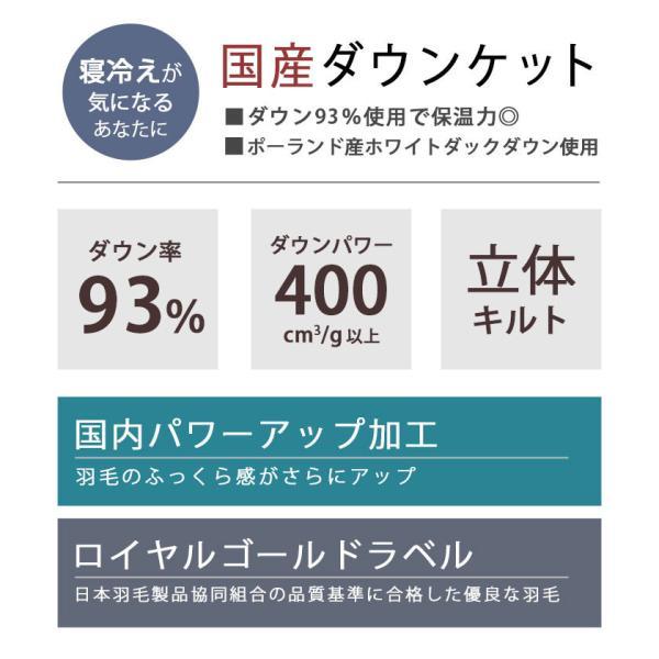 羽毛肌掛け布団 シングル ポーランド産ダウン90% ダウンケット 日本製 夏の羽毛布団 肌布団 ロイヤルゴールドラベル|futon|03