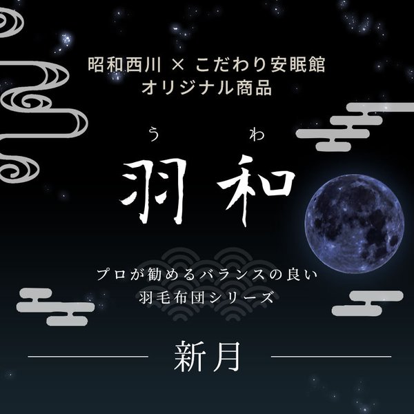 羽毛布団 昭和西川 シングル 日本製 ダウン90% 羽和 新月|futon|02