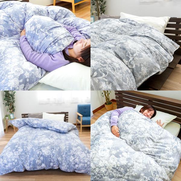 羽毛布団 昭和西川 シングル 日本製 ダウン90% 羽和 新月|futon|05