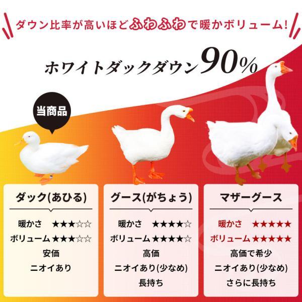 羽毛布団 昭和西川 シングル 日本製 ダウン90% 羽和 新月|futon|06