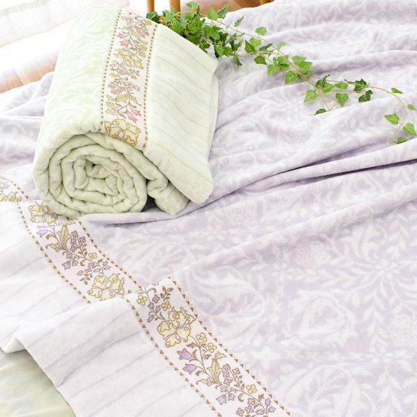 タオルケット シングル 昭和西川 綿100% 花柄 タオルケット クラシックガーデン futon 02