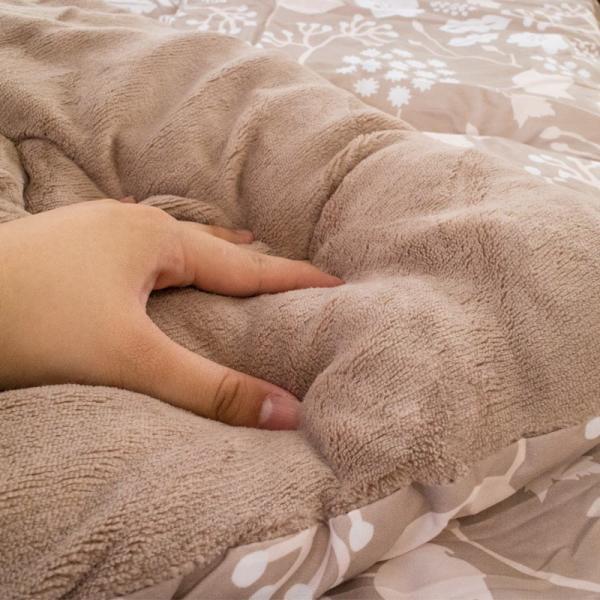 ボア布団 毛布 シングル 昭和西川 衿裏マイクロファイバー 中わた増量1.3kg入り 暖か 洗える掛け布団|futon|06