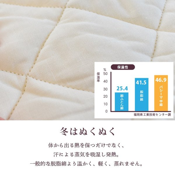 パシーマ サニセーフ ダブル ワイドロング 155×210cm 日本製 洗えるパットシーツ 敷パッド シーツ|futon|05