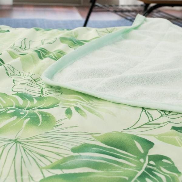ひんやりハーフケット 100×140cm 接触冷感&タオル地 リバーシブル 夏用 洗えるクールケット|futon|06