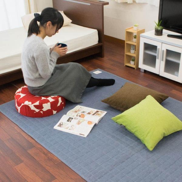 シートクッション ラウンド 直径45cm 厚み15cm ハイタイプ 日本製 体圧分散 硬質ウレタン クッション|futon|08