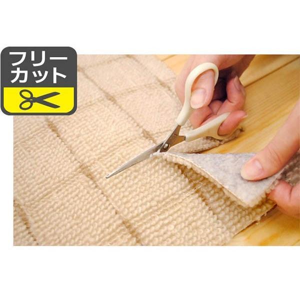 カーペット 1畳 絨毯 滑り止め付 フリーカット 日本製 グリッパー 江戸間 88×176cm|futon|03
