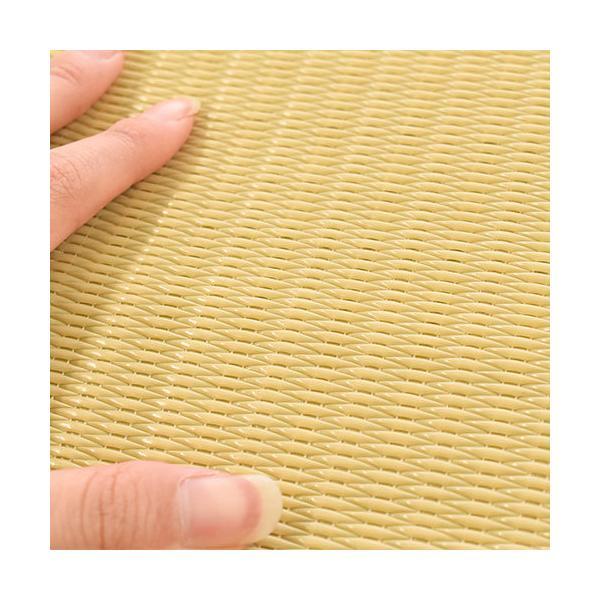 い草風PPラグ 6畳 江戸間 261×352cm 日本製 洗える ポリプロピレン 上敷き カーペット|futon|06