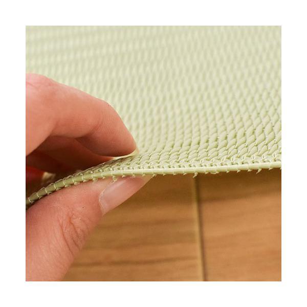 い草風PPラグ 6畳 江戸間 261×352cm 日本製 洗える ポリプロピレン 上敷き カーペット|futon|07