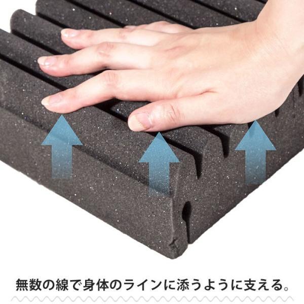マットレス 敷布団 敷き布団 高反発 シングル 厚み8cm 体圧分散 三つ折り 敷きふとん ライズTOKYO|futon|05