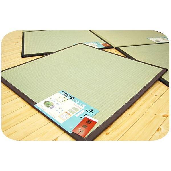 い草ユニット畳 半畳 約82×82×厚み1.7cm 純国産 抗菌 防臭 防虫 防カビ 置き畳 あぐら|futon|06