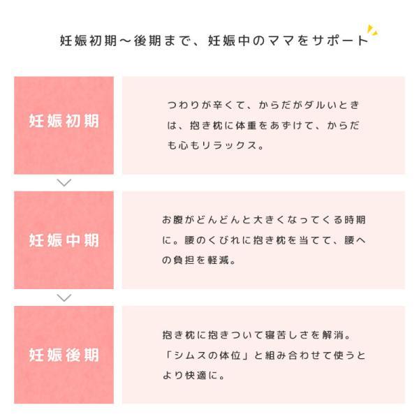 抱き枕 抱きまくら マタニティ ベビママ 妊婦 全長120cm 日本製 洗える 抱きまくら 授乳クッション|futon|03