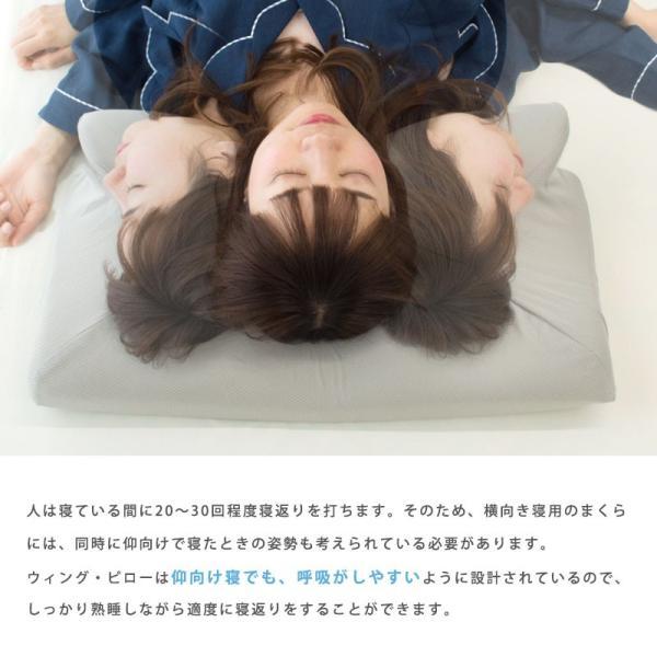 枕 まくら マクラ 低反発枕 ウイング・ピロー 枕 横向き枕 横寝で息らく ウィングピロー 快眠枕 こだわり安眠館オリジナル futon 13