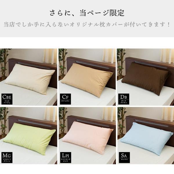枕 まくら オルトペディコ アンナブルー スリープメディカル枕 専用ピロケース付き セット futon 15