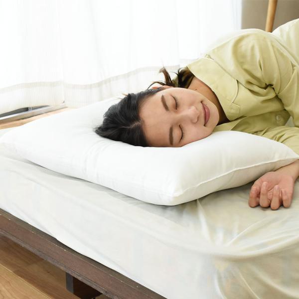 洗える枕 43×63cm 日本製 テイジンのクリスターわた使用 ウォッシャブルピロー くぼみ型 快眠枕|futon|04
