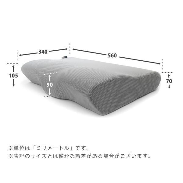 枕 まくら マクラ 低反発枕 4D de 首を解放 ネックプラスピロー 波型 ウェーブ 立体構造 頚椎サポート 低反発まくら 快眠枕|futon|11
