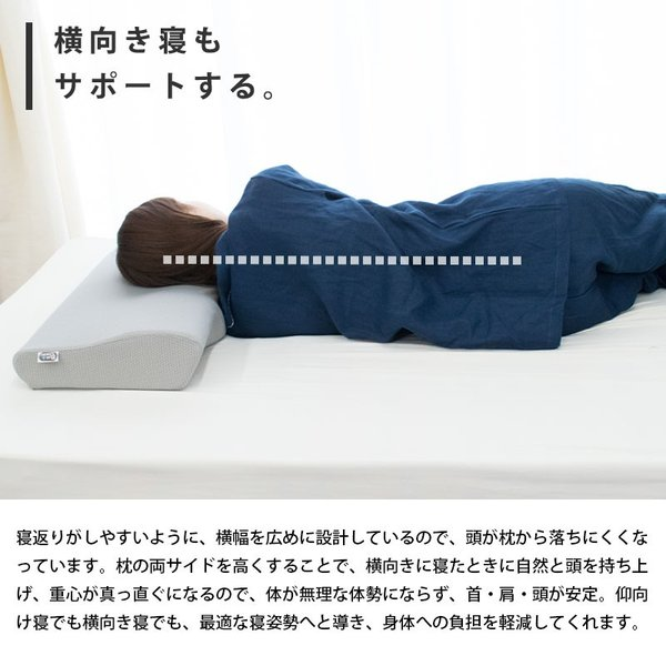 枕 まくら マクラ 低反発枕 4D de 首を解放 ネックプラスピロー 波型 ウェーブ 立体構造 頚椎サポート 低反発まくら 快眠枕|futon|06