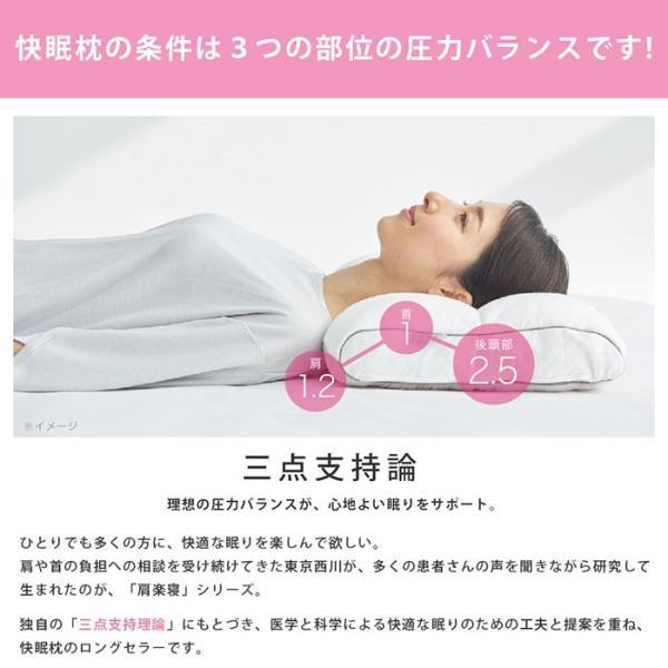 洗える枕 肩こり 東京西川 もっと肩楽寝 肩楽寝プレミアム 日本製 快眠枕 健康枕|futon|04