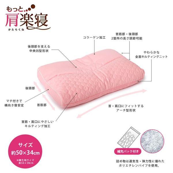 洗える枕 肩こり 東京西川 もっと肩楽寝 肩楽寝プレミアム 日本製 快眠枕 健康枕|futon|06