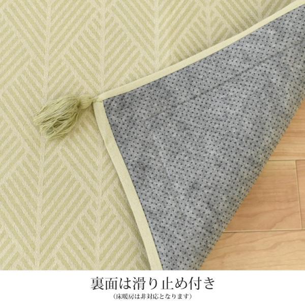 洗えるラグ 2畳 185×185cm インド綿100% オールシーズン ラグマット カーペット クラック|futon|04