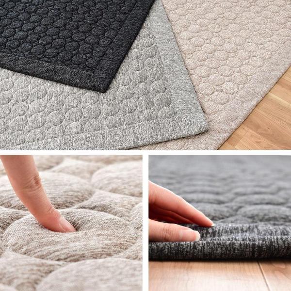 ひんやり接触冷感ラグ 2畳 185×185cm 夏用 ウォッシャブル 洗える涼感ラグ グラシエ futon 07