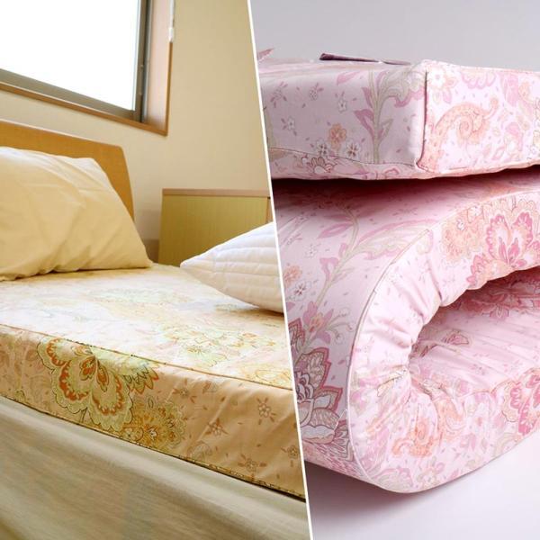 布団セット シングル 西川 健康敷きふとん 80mm 専用カバー付き + もっと肩楽寝 枕 2点セット futon 09