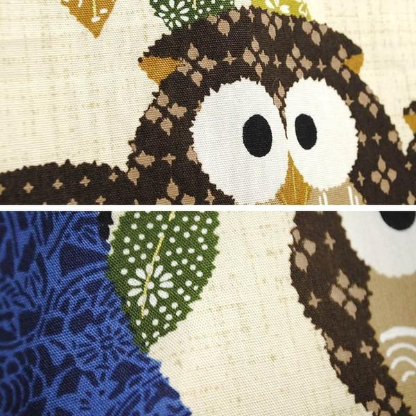 のれん ふくろう柄 日本製 和風 暖簾 85×170cm ロング丈 ゆうメール便|futon|02