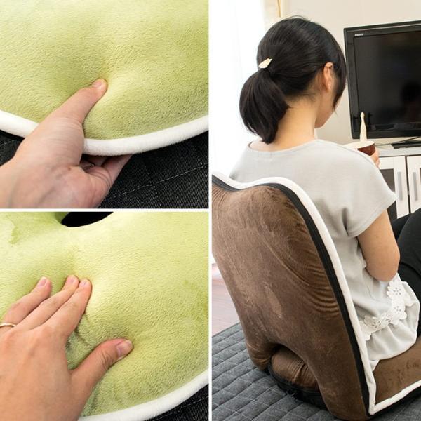 座椅子 低反発 ドーナツ 円座 リクライニング フロアチェア 座いす|futon|09