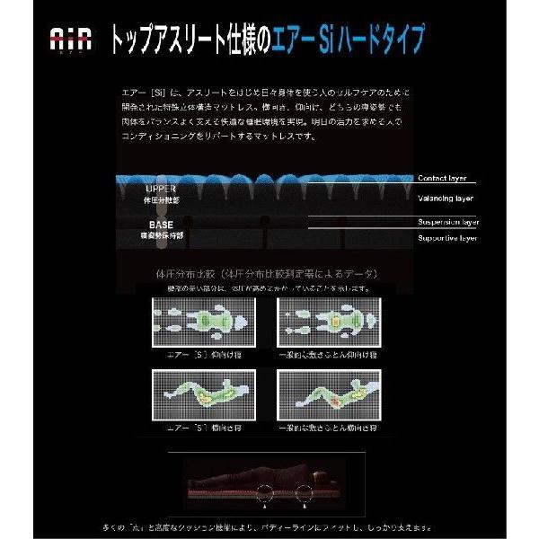 西川 AIR エアー Si マットレス シングルサイズ ブルー ハードタイプ プレミアムモデル 東京西川産業 Sサイズ 敷きふとん futonhouse 03
