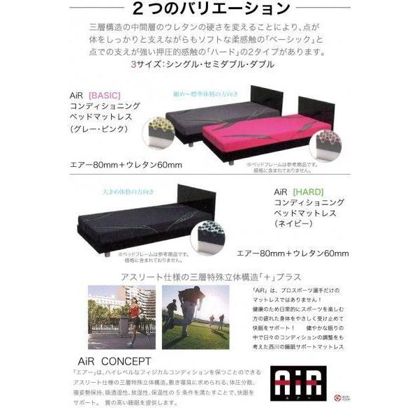 東京西川 エアー AiR01  西川のエアーベッド専用マットレス ハードタイプ ダブルサイズ(ネイビー) 支払方法・クレジットのみ|futonhouse|03