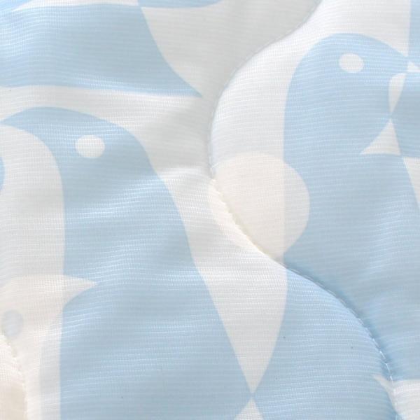 西川製 ひんやり ペンギン柄 トリアス柄 接触冷感 敷きパッド シングルサイズ 100×205cm 涼感 夏用 アデリーふとんタナカ 冷感 CM 敷パッド|futontanaka|03