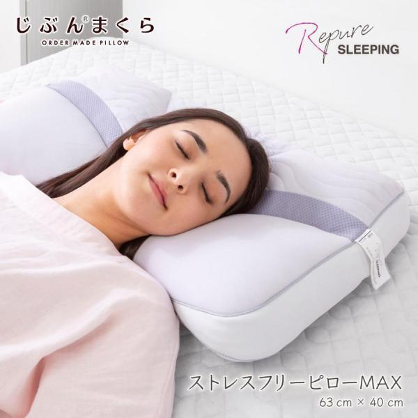 枕 ストレスフリーピロー MAX マックス 63×40cm じぶんの力で体をケアする 光電子リピュア Repure 自己回復力を高める|futontanaka